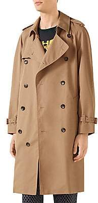 Gucci Men's Trench Coat with Chateau Marmont Embroidery