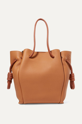 Loewe Flamenco Small Textured-leather Tote - Tan