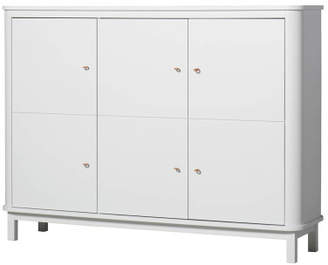Rails Oliver Furniture Multi-Storage 3 Door Birch Dresser