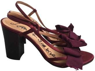 Lanvin Burgundy Cloth Sandals