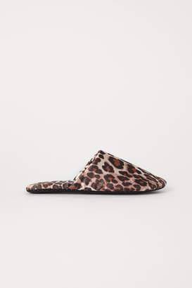H&M Satin slippers - Beige