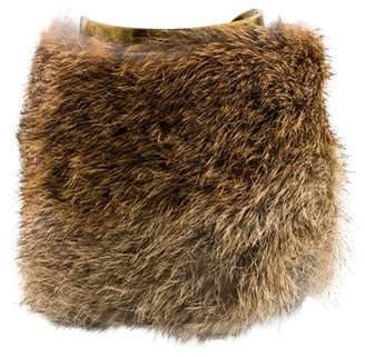 Michael Kors Rabbit Fur Cuff