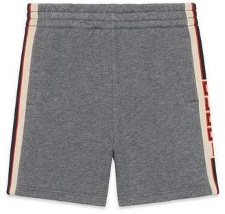 Gucci Children's short with jacquard trim
