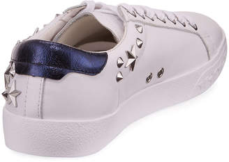 Ash Dazed Leather Low-Top Sneakers