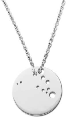 Ekria Capricorn Zodiac Necklace Shiny White Gold