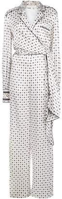 Jonathan Simkhai tie front scarf print jumpsuit