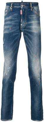 DSQUARED2 faded slim fit jeans