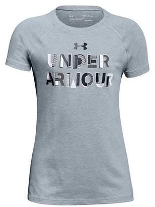 Under Armour Girl's Asymmetric Branded Tee