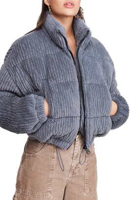 BDG Urban Outfitters Fluffy Corduroy Crop Puffer Jacket