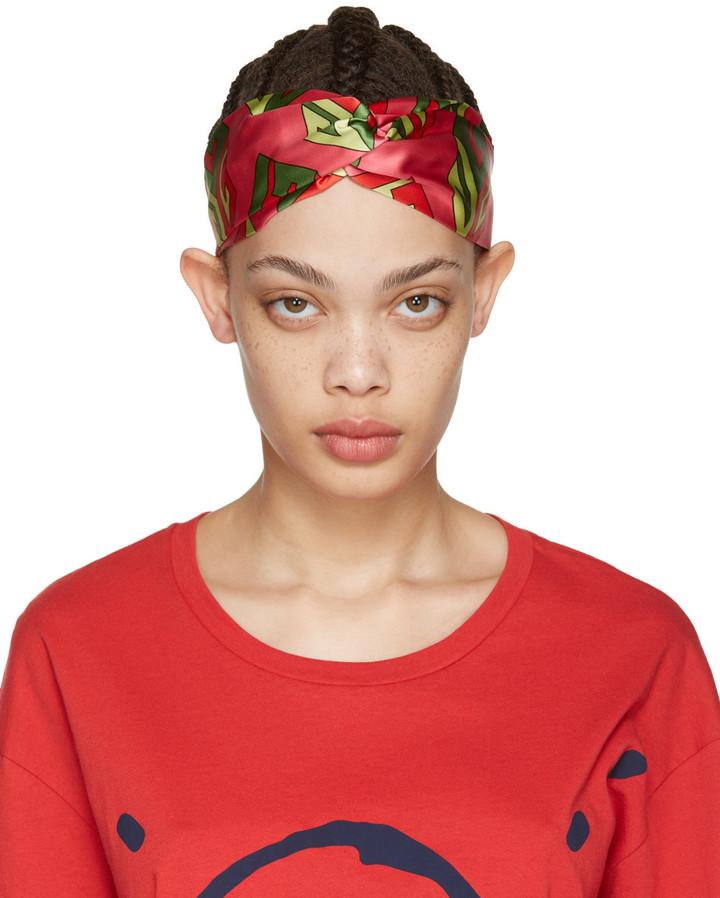 GucciGucci Pink Logo Cube Headband