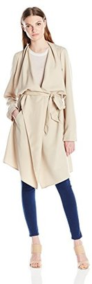 Kensie Women's Soft Trench Coat $90 thestylecure.com