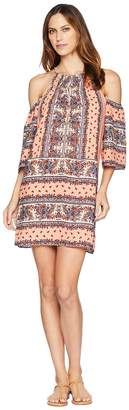 Wrangler Patterned Cold Shoulder Dress Women's Dress