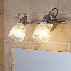 Kara - Badezimmer-Wandlampe mit Riffelglas und LED