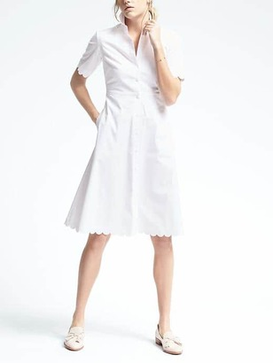 White Scallop Shirtdress $98 thestylecure.com
