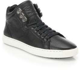 Rag & Bone Black Neo Plain High-Top Sneakers uXNW1dL3zY