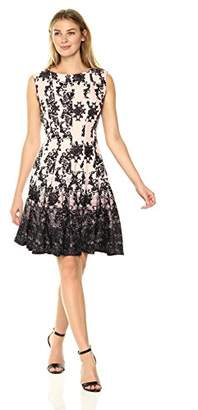 Julian Taylor Women's Chandelier Printed Fit Flare Cap Sleeved Dress