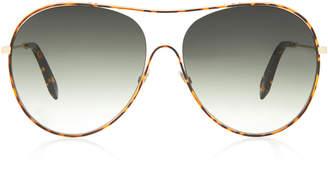 Victoria Beckham Round-Frame Acetate Sunglasses