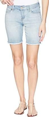 Liverpool Jeans Company Women's Corine Walking Short Fray Hem in Soft Stretch Vintage Denim