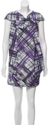Paule Ka Crosshatch Cocoon Dress