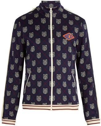 Gucci Tiger head zip-through sweatshirt