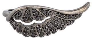 Penny Preville 18K Diamond Wing Ring black 18K Diamond Wing Ring