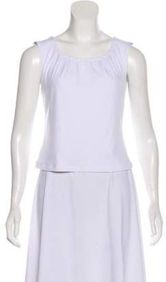 Ellen Tracy Sleeveless Ruched Top