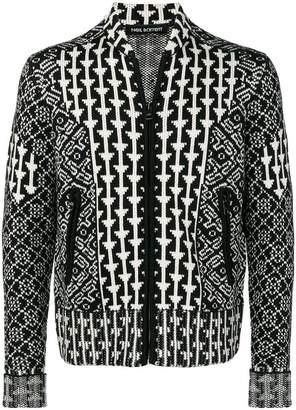 Neil Barrett knitted bomber jacket