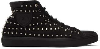 Saint Laurent Black Studded Bedford High-Top Sneakers