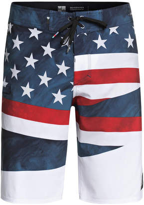 """Quiksilver Men's Highline Freedom Graphic-Print 20"""" Board Shorts"""
