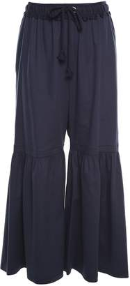 See by Chloe Moroccan Cotton-blend Flared-pants
