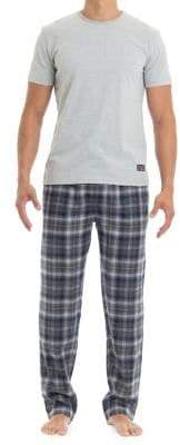 Ben Sherman Two-Piece Knit Tee and Cotton Flannel Pants Set