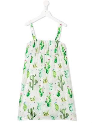 MC2 Saint Barth Kids TEEN cactus print dress