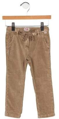 Il Gufo Girls' Velvet Skinny Leg Pants