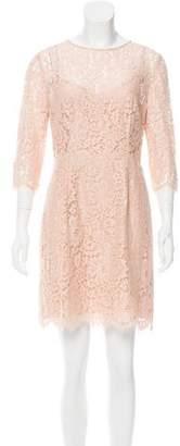 Temperley London Semi-Sheer Lace Dress