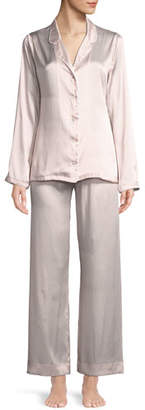 Derek Rose Brindisi Silk Charmeuse Pajama Set