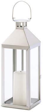 Wayfair Soho Stainless Steel and Glass Lantern