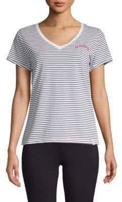 Andrew Marc Short-Sleeve Striped Tee