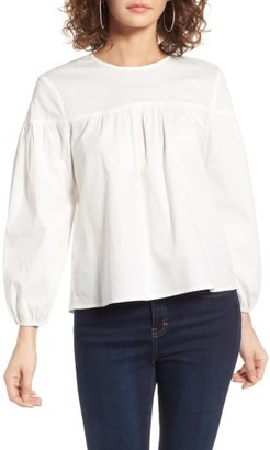 Women's Wayf Blair Poplin Swing Blouse $65 thestylecure.com