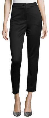Cushnie Et Ochs High-Waist Lullaby Jersey Ankle Pants $850 thestylecure.com