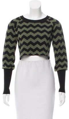Alice by Temperley Chevron Cropped Sweater $75 thestylecure.com