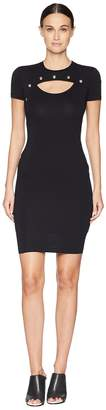 Versace Short Sleeve Fitted Dress Women's Dress