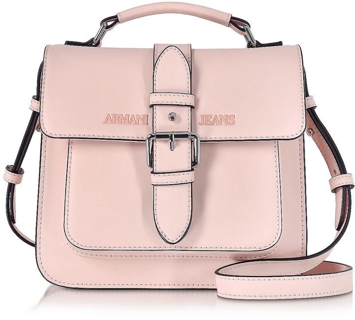 Armani Jeans Signature Eco Leather Square Crossbody Bag