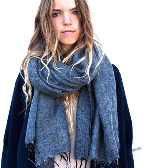 Co The Forest & Cosy Yak Scarf In Winter Cream