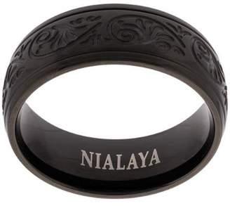 Nialaya Jewelry decorative engraved ring