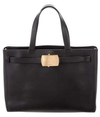 Calvin Klein Collection Leather Tote Bag Black Leather Tote Bag