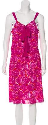 Tory Burch Printed Sleeveless Midi Dress