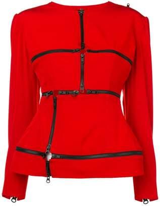 Yohji Yamamoto zip detailed top