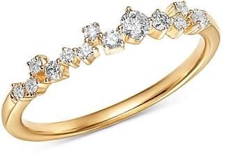 Adina 14K Yellow Gold Scattered Diamond Row Ring