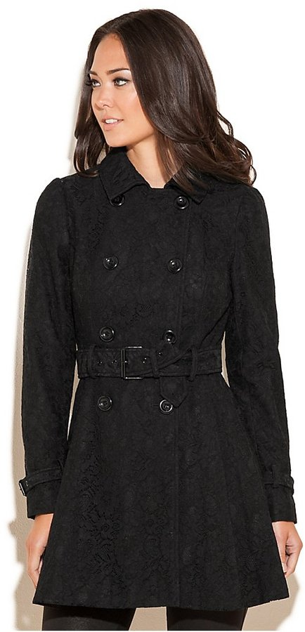 GUESS Kate Lace Trench Coat