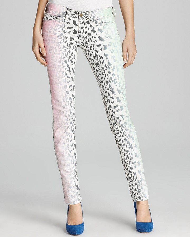 Current/Elliott Jeans - The Stiletto in Neon Leopard